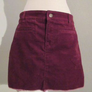 Loft Burgundy cordouroy mini skirt